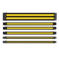 Thermaltake TtMod Sleeved PSU Extension Cable Set – Yellow/Black
