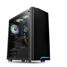 Thermaltake H100 Tempered Glass ATX Mid-Tower Case with 1 x Black 120mm Rear Fan Pre-Installed