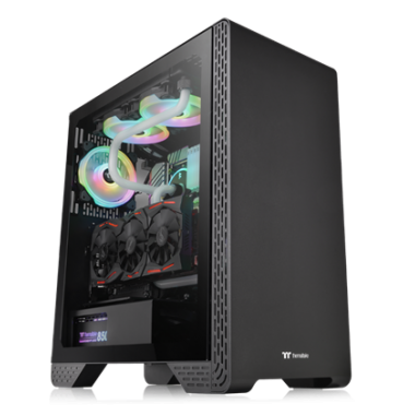 Thermaltake S300 Tempered Glass Mid Tower Case Black Edition