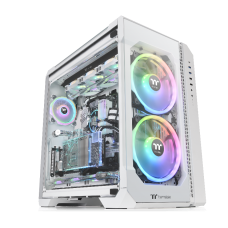 Thermaltake View 51 ARGB 3-Sided Tempered Glass E-ATX Full Tower Case Snow Edition