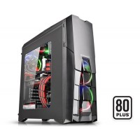 Thermaltake Versa N25 Window Mid Tower Case with 600W 80+ PSU