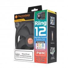 Thermaltake Riing 12 High Static Pressure 120mm LED RGB Radiator Fan - 3 Fan Pack