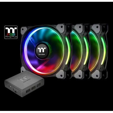 Thermaltake Riing Plus 12 TT Premium Edition 120mm LED RGB Fan - 3 Fan Pack