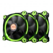 Thermaltake Riing 12 High Static Pressure 120mm Green LED Fan - 3 Fan Pack