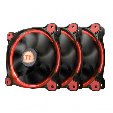 Thermaltake Riing 12 High Static Pressure 120mm Red LED Fan - 3 Fan Pack