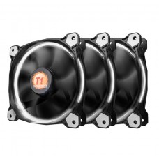 Thermaltake Riing 12 High Static Pressure 120mm White LED Fan - 3 Fan Pack
