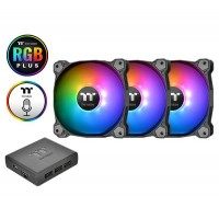 Thermaltake Pure Plus 12 TT Premium Edition 120mm LED RGB Fan with Controller - 3 Fan Pack