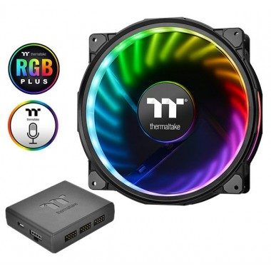 Riing Plus 20 LED RGB Case Fan TT Premium Edition (Single Fan Pack with Controller)