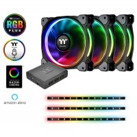 Thermaltake Riing Plus 12 TT Premium Edition RGB Fan ( 3 Fan Pack) & Pacific Lumi Plus RGB LED Strips COMBO Kit