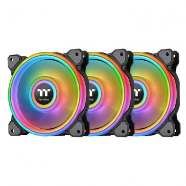 Thermaltake Riing Quad 14 RGB Radiator Fan TT Premium Edition 3 Pack Black Edition