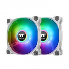 Thermaltake Pure Duo 14 ARGB 140mm Sync Fan (2-LED Ring Design) with Controller - White 2 Fan Pack