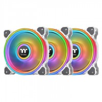 Thermaltake Riing Quad 12 RGB Radiator Fan TT Premium Edition 3 Pack White Edition