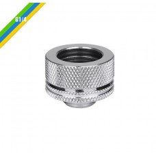 Thermaltake Pacific G1/4 PETG Tube 16mm (5/8'') OD Compression - Chrome