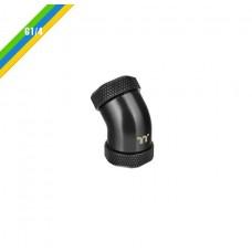 Thermaltake Pacific G1/4 PETG Tube 45-Degree dual compression 12mm OD - Black