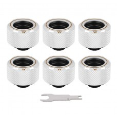 Thermaltake Pacific C-PRO Leak-Proof G1/4 PETG Tube 16mm OD Compression - White (6-Pack Fittings)