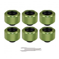 Thermaltake Pacific C-PRO Leak-Proof G1/4 PETG Tube 16mm OD Compression - Green (6-Pack Fittings)