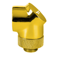 Thermaltake Pacific G1/4 90 Degree Adapter - Gold
