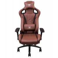 TT PREMIUM X Fit Real Leather Brown Gaming Chair
