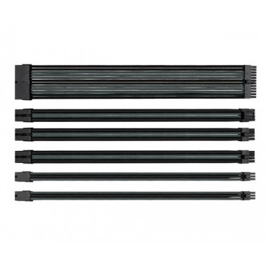 Thermaltake TtMod Sleeve Extension Cables - Black and Space Gray