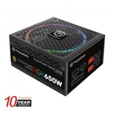 Thermaltake Toughpower Grand RGB 650w 80+ Gold Riing 14cm 256 Colors RGB Fan Fully Modular Power Sypply 10-Year Warranty