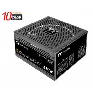 Thermaltake Toughpower GF1 650w 80+ Gold Ultra Quiet 140mm Fan Fully Modular Power Supply 10-Year Warranty